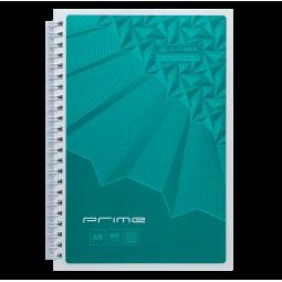Тетрадь на пружине PRIME А5, 96л., клетка, в картонной обложке, бирюзовый