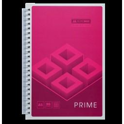 Тетрадь на пружине PRIME А5, 96л., клетка, в картонной обложке, розовый