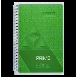 Тетрадь на пружине PRIME А5, 96л., клетка, в картонной обложке, салатовый