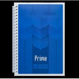 Тетрадь на пружине PRIME А5, 96л., клетка, в картонной обложке, синий