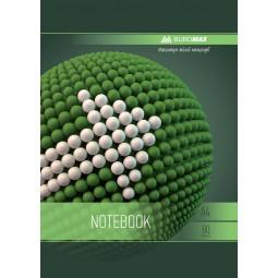 Тетрадь на пружине SPHERE А-4, 80л., клетка, картонная обложка, зеленый