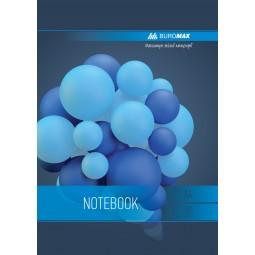 Тетрадь на пружине SPHERE А-4, 80л., клетка, картонная обложка, синий