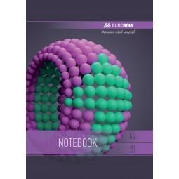 Тетрадь на пружине SPHERE А-4, 80л., клетка, картонная обложка, фиолетовый