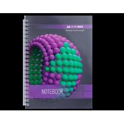 Тетрадь на пружине SPHERE А-5, 80л., клетка, картонная обложка, фиолетовый