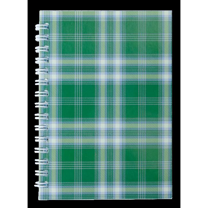 """Тетрадь на пружине сбоку, А-6, 48л., """"Shotlandka"""", зеленый, клетка, картонная обложка"""
