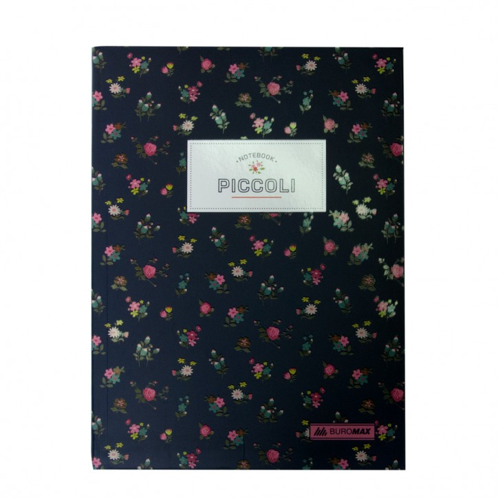 Блокнот PICCOLI, А-5, 80л., клетка, интегральнная обложка, т.-синий