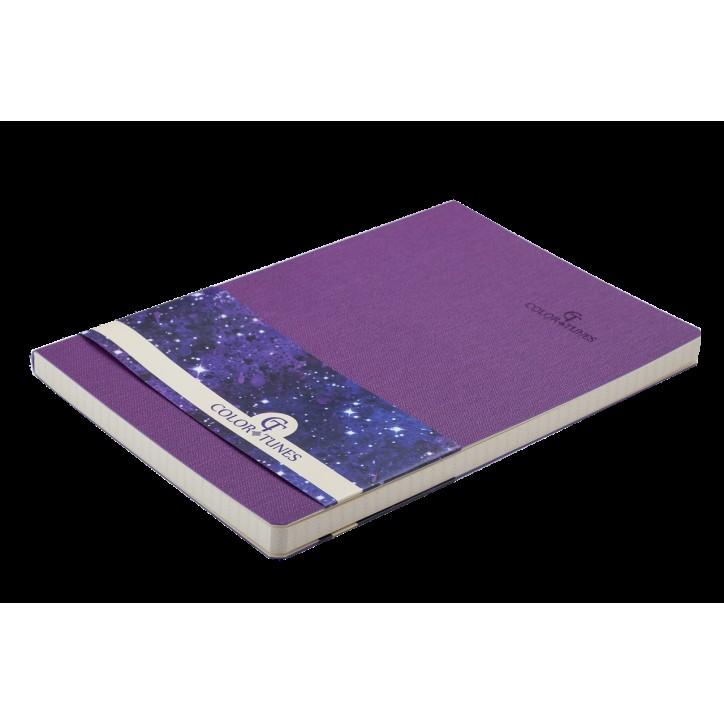 Блокнот деловой COLOR TUNES А5, 96л., клетка, обложка искусственная кожа, фиолетовый