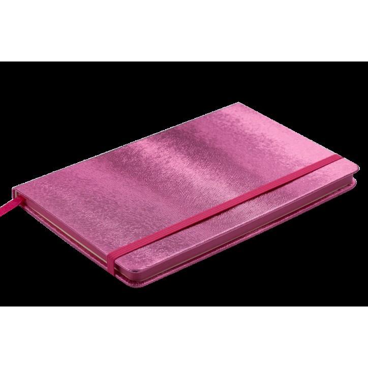 Блокнот деловой INGOT 125x195мм, 80л., клетка, обложка искусственная кожа, розовый