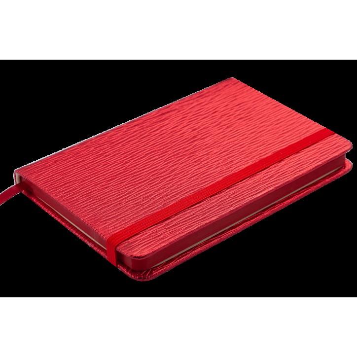 Блокнот деловой INGOT 95x140мм, 80л., клетка, обложка искусственная кожа, красный