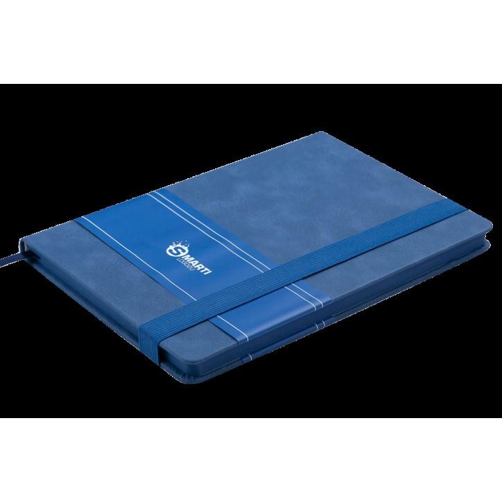 Блокнот деловой SMARTI LOGO2U А5, 96л., клетка, обложка искусственная кожа, синий