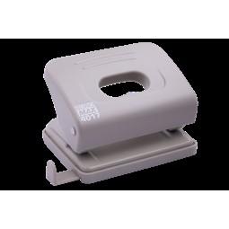 Дырокол пластиковый (толщ.: ~10л.; р-р: 100x82x53мм), серый
