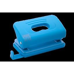 Дырокол пластиковый RUBBER TOUCH (до 10 л.), голубой