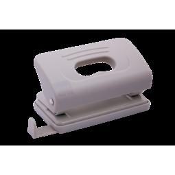 Дырокол пластиковый RUBBER TOUCH (до 10 л.), серый