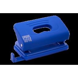 Дырокол пластиковый RUBBER TOUCH (до 10 л.), синий