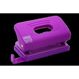 Дырокол пластиковый RUBBER TOUCH (до 10 л.), фиолетовый