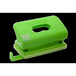 Дырокол пластиковый RUBBER TOUCH(до 10 л.), св-зеленый