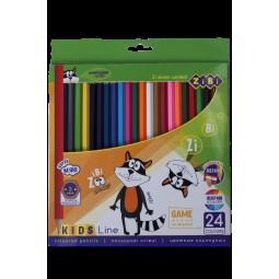 Карандаши цветные, 24 цветов, KIDS Line
