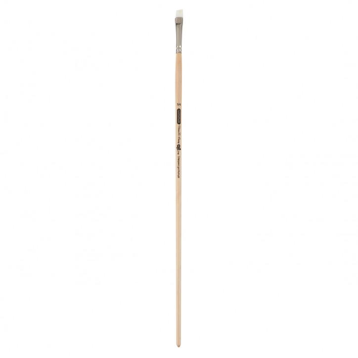 Кисть синтетика, Creamy 6973, угловая, № 1/4, длинная ручка, ART Line