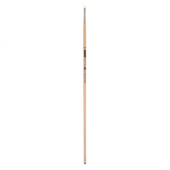Кисть синтетика, Creamy 6973, угловая, № 1/8, длинная ручка, ART Line