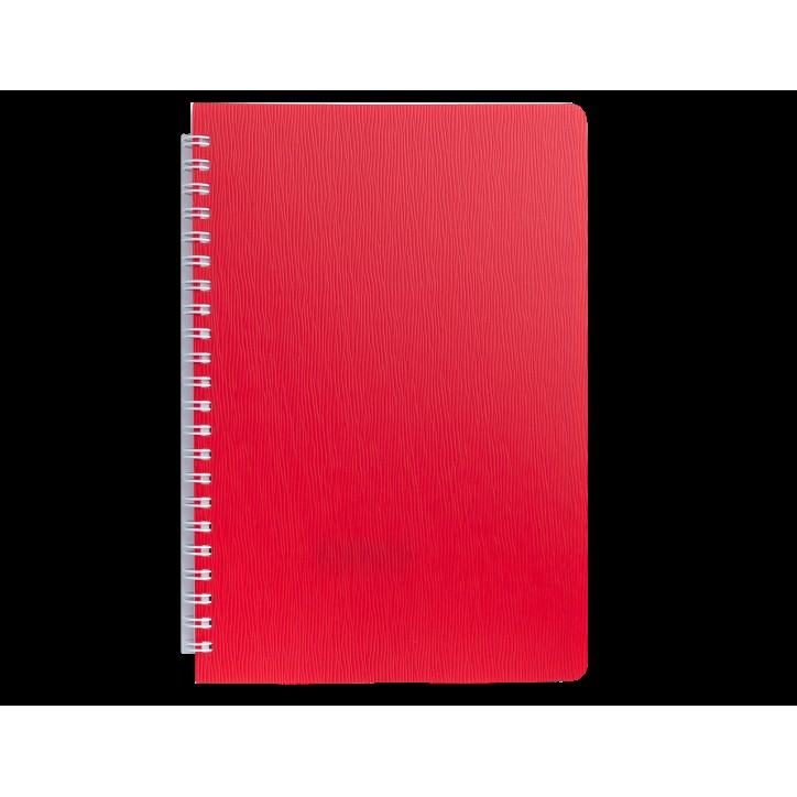 "Книжка записн. на пруж. ""BARK"" А5, 60л.,кл., пластик.обл., красный"