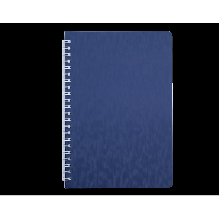 "Книжка записн. на пруж. ""BARK"" А5, 60л.,кл., пластик.обл., синий"