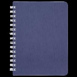 "Книжка записн. на пруж. ""BARK"" А6, 60л.,кл., пластик.обл., синий"