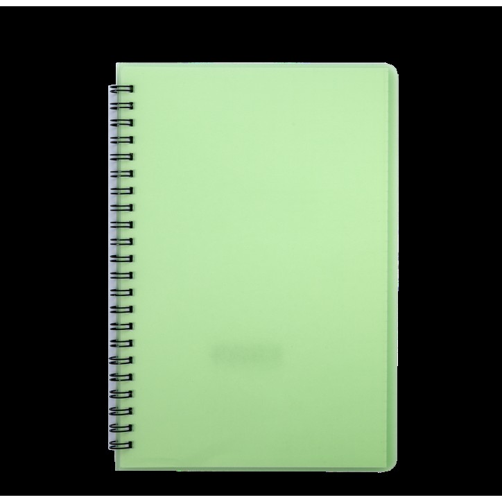 "Книжка записн. на пруж. ""BRIGHT"" А5, 60л.,кл., пластик.обл., салатовый"