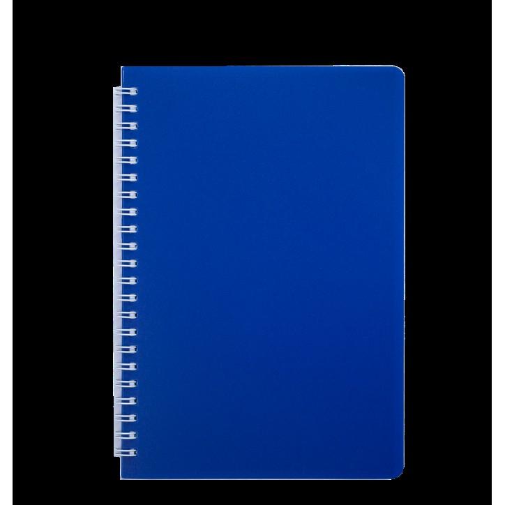 """Книжка записн. на пруж. """"BRIGHT"""" А5, 60л.,кл., пластик.обл., синий"""