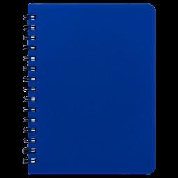 """Книжка записн. на пруж. """"BRIGHT"""" А6, 60л.,кл., пластик.обл., синий"""