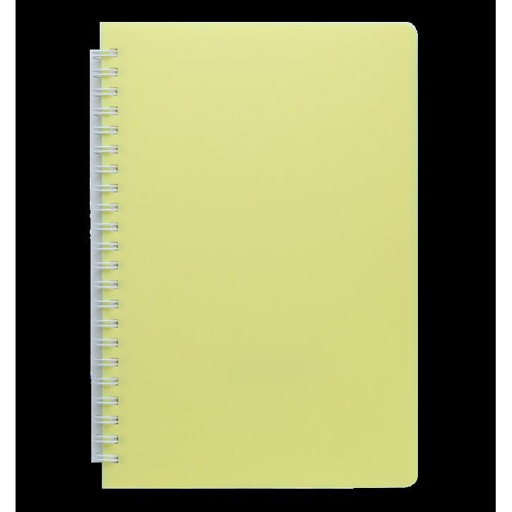 "Книжка записн. на пруж. ""FRESH"" А5, 60л.,чистый, пластик.обл., желтый"