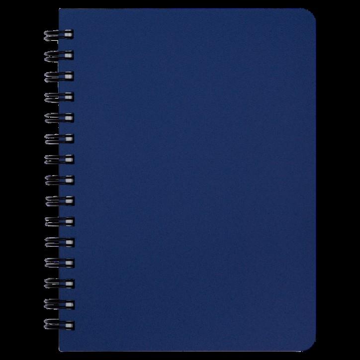 """Книжка записн. на пруж. """"OFFICE"""" А6, 96л.,кл., пластик.обл., синий"""