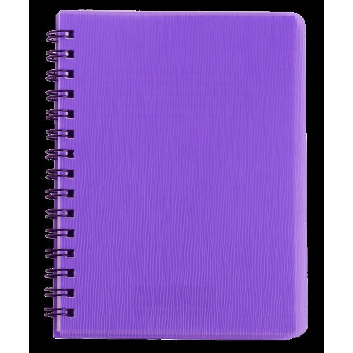 "Книжка записн. на пруж. ""RAIN"" А5, 80л.,кл., пластик.обл., фиолетовый"