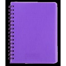 "Книжка записн. на пруж. ""RAIN"" А6, 80л.,кл., пластик.обл., фиолетовый"