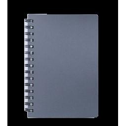 "Книжка записн. на пруж. ""STATUS"" А6, 80л.,кл., пластик.обл., графит"