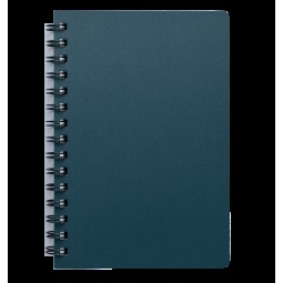 "Книжка записн. на пруж. ""STATUS"" А6, 80л.,кл., пластик.обл., марэнго"