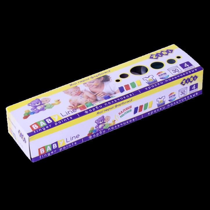 Краски пальчиковые 4цв.х30мл, BABY Line