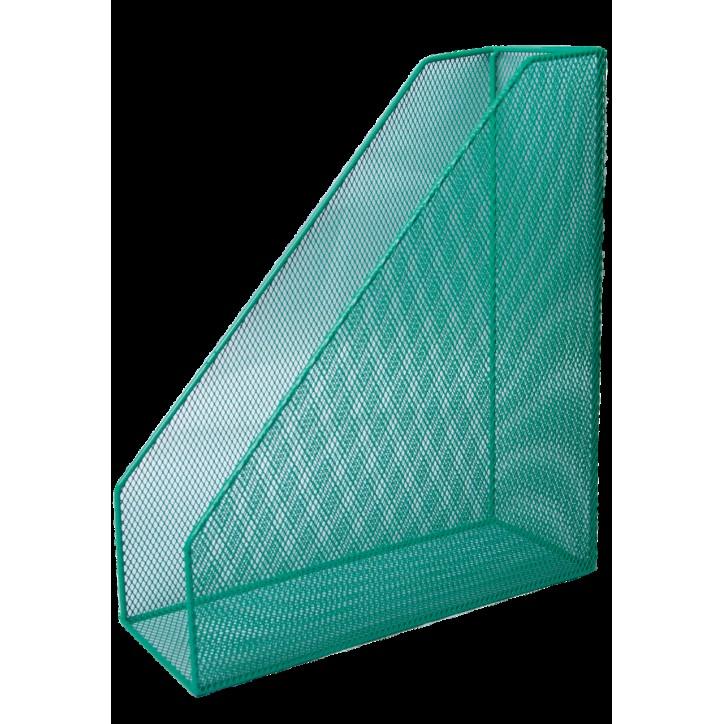 Лоток для бумаг вертикальный BUROMAX, металлический, зеленый