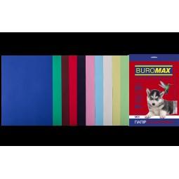 Набір кольорового паперу А4, 80г/м2, DARK+PASTEL, 10цв., 20л.