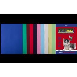 Набір кольорового паперу А4, 80г/м2, DARK+PASTEL, 10цв., 50л.