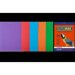 Набір кольорового паперу А4, 80г/м2, INTENSIV, 5цв., 50л.
