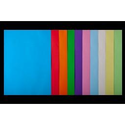 Набір кольорового паперу А4, 80г/м2, PASTEL+INTENSIV, 10цв., 50л.