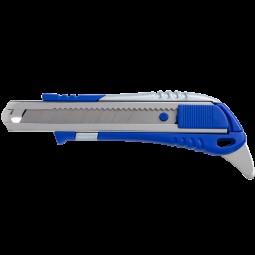 Нож универсальный 18мм, мет. направляющая, пласт. корпус c резин. вставками