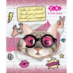 """Папка для тетрадей """"CUTE CAT"""", картонная, на резинке B5+ , KIDS Line"""