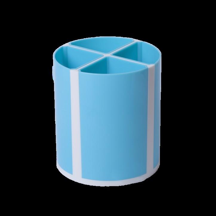 Подставка для пишущих принадлежностей ТВИСТЕР голубая, 4 отделения, KIDS Line