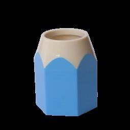 Подставка для ручек КАРАНДАШ, пластик, голубая, KIDS Line