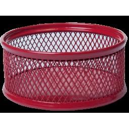 Подставка для скрепок BUROMAX, металлическая, красный