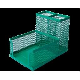 Прибор настольный BUROMAX, металлический, зеленый