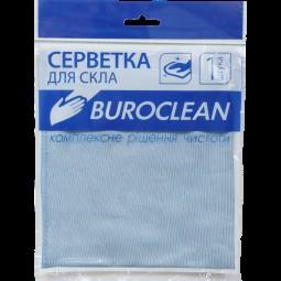 Салфетка микрофибра для стекла и зеркал Buroclean 30х30