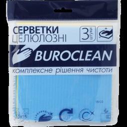 Салфетки целлюлозные влаговпитывающие Buroclean 15х15 см, 3 шт/уп