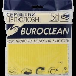 Салфетки целлюлозные влаговпитывающие Buroclean 15х15, 5 шт/уп